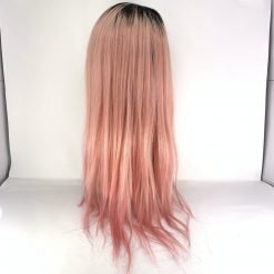 13A Full Lace Wig Color 18 BLACK ROOTS / LIGHT PINK